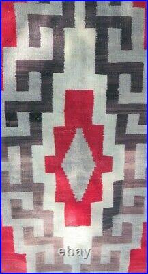 Old Indian RUG Navaho Navajo Blanket Native American KLAGETOH J. B. Moore