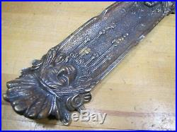 Old Native American Indian Chief Figural Brass Tray Card Tip Cigar Ashtray Pen