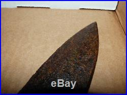 Old plains Indian forged iron buffalo lance heavy patina looks dug up