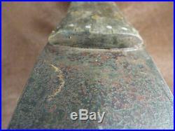Original Large Beavertail Huron Indian Dag Knife Fur Trade Era 1840