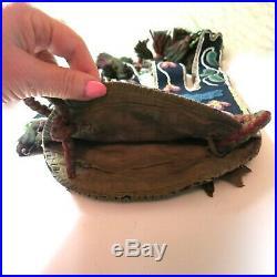 Outstanding Antique Native American Indian Octopus Bandalier Bag Purse Handbag