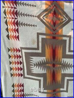 Pendleton Beaver State Wool Blanket Chief Joseph Native American Design 60X 79