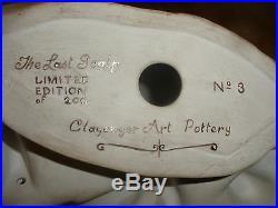Pottery Sculpture Western Art Native American Indian War Us Soldier Last Scalp