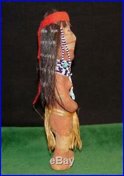 RARE Antique Native American Mojave Clay Female Indian Doll