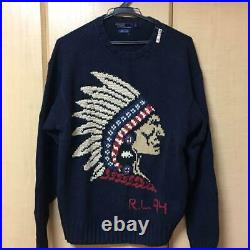 Ralph Lauren Native American Indian Sweater Vintage M F/S from JAPAN