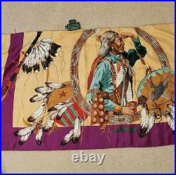 Ralph Lauren POLO COUNTRY Western Native Indian Chief Silk Scarf Skirt Very RRL
