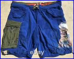 Ralph Lauren Polo Military Native Aztec American Indian Chief Cargo Shorts 36