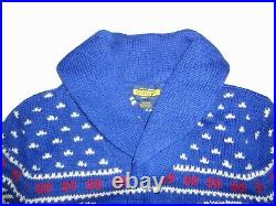 Ralph Lauren Rugby Indian Shawl Sweater XL Native American Chief Stadium Bear