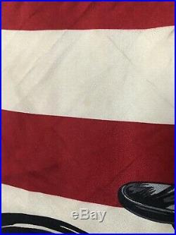 Ralph Lauren Silk Scarf Vintage Motorcycle Native American Indian Head US flag