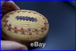 Rare Northwest Coast Makah Nootka Indian Abalone Shell Basket Native American