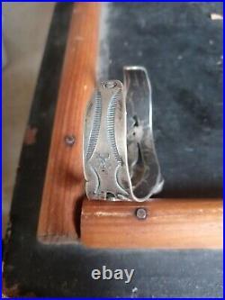 Rare Wow Navajo Sterling Fred Harvey Turquoise Snake Cuff Fun Fun