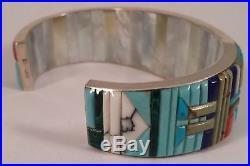 Russ Rockbridge Vintage Indian Sterling Silver Turquoise Kachina Bracelet Cuff