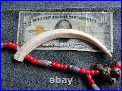Shaman Necklace & Pipe, Native American Indian Gorget Beaded Necklace Du-00844