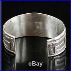 Silver Tufa Cast Cuff Bracelet Native American Indian Jewelry Large Heavy