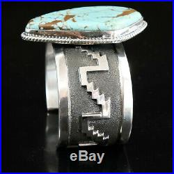 Silver Turquoise Overlay Cuff Bracelet Native American Indian Jewelry Large
