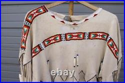 Southern Cheyenne Style Beaded Buckskin Native American Indian Maiden Dress
