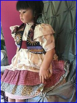 Suzi Doll Rotraut Schrott Native Am. Indian / Asian GADCO Great American Doll Co