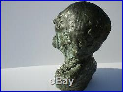 Trail Of Tears Native American Indian Life Size Statue Vintage Portrait Guerrero