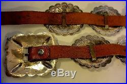 UITA 21 United Indian Trading c. 1930+ Navajo CONCHO BELT buckle Sterling Silver