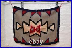 VINTAGE Navajo Rug Native American Indian Weaving Textile 40x30 ATQ Transitional