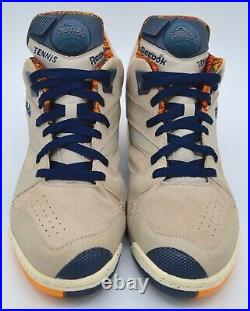 VNDS Reebok Court Victory Pump Cowboys & INDIANS Pack Khaki/Navy/Red rare 10.5