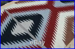 VTG Chinle NAVAJO 39x19 Rug Native american indian blanket eye dazzler textile
