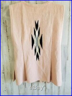 VTG Ortega's Chimayo Vest Jacket 100% All Wool Hand Woven Southwestern Indian