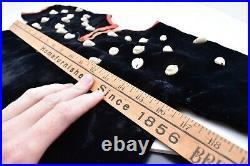 VTG Plains Lakota Sioux Native American Indian Shell Beaded Velvet Child Dress