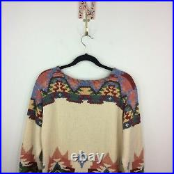 VTG Ralph Lauren Country Small Native American Indian Southwest Sweater