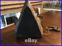 Very Rare Antique Indian Native American Teepee Metal Camp Fire Radio Lamp
