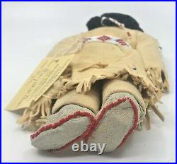 Vintage Doll Mary White Thunder Native American Sioux beaded leather Toy Indian