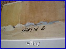 Vintage Martin Signed Painting Native American Indian Adobe Taos Pueblo Original