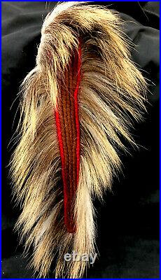 Vintage Montana Crow Indian Hair Roach Handmade Ca1900 Native American Headdress