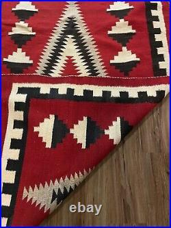 Vintage NAVAJO NATIVE AMERICAN INDIAN RUG Textile Weaving BLANKET 75X48