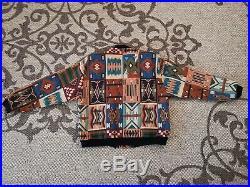 Vintage Native American Indian navajo Jacket Coat men's Medium M Pure cotton