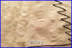 Vintage Navajo Blanket Rug native american indian Transitional ANTIQUE 44x34