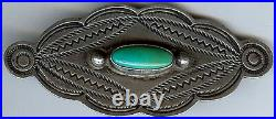Vintage Navajo Indian Silver & Turquoise Pin Brooch