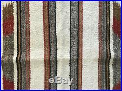Vintage Navajo Native American Indian Saddle Blanket Rug striped textile 32x31