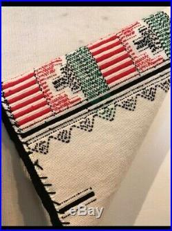 Vintage Navajo Rug Hopi Kachina Dance Kilt Native American Indian Blanket