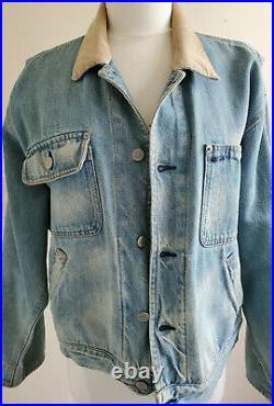 Vintage Ralph Lauren Native American Indian Head Denim Jacket Polo Woman's L