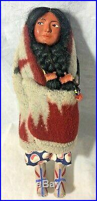 Vintage Skookum Bully Good Native American The Great Indian Character Doll w Box