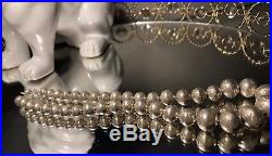 Vintage Sterling Silver Native American Indian Navajo Pearls Necklace 30.3g