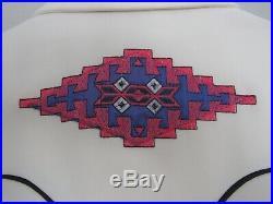Vtg H Bar C Western California Ranchwear Ivory Indian Native American Shirt MINT