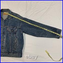Vtg Levis Indian Native American Embroidered Denim Jacket Size Mens Large Rare