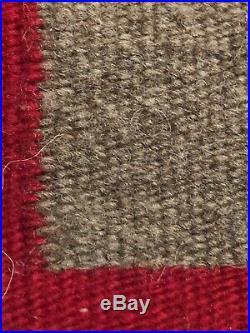 Vtg Native American Indian Hand Woven Wool Rug Lap Saddle Blanket 28x22 Navajo