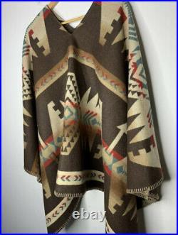 Vtg Polo Country Ralph Lauren Native Southwestern American Wool Poncho RRL