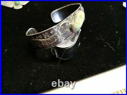WOW Pawn RARE WOW ZUNI STERLING CUFF WITH HAND MADE SNAKES. FUN FUN