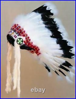 Warbonnet Headdress Head Dress Indian Regalia Pow Wow Tribal Regalia Native