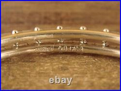Zuni Indian Jewelry Sterling Silver Turquoise Bracelet Murray Hannaweeka
